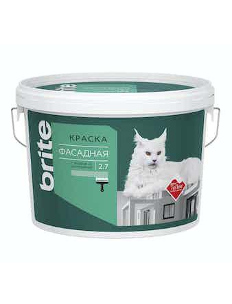 Краска для фасадов с защитой от загрязнений Brite Teflon 2,7 л база А