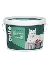 Краска для фасадов с защитой от загрязнений Brite Teflon, база С, 2,7 л