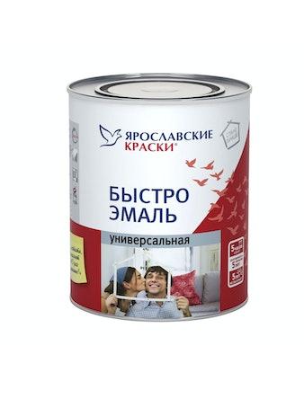 Быстроэмаль универсальная Ярославские Краски, черная глянцевая, 0,9 кг