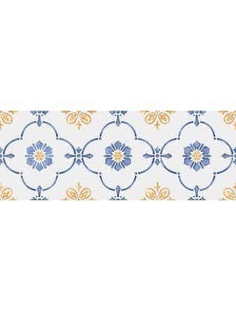 Настенная плитка Сорренто 15052, орнамент, 15 х 40 см