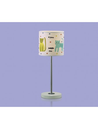Настольная лампа 2279/1Т цветной Е14 1х40W CATS