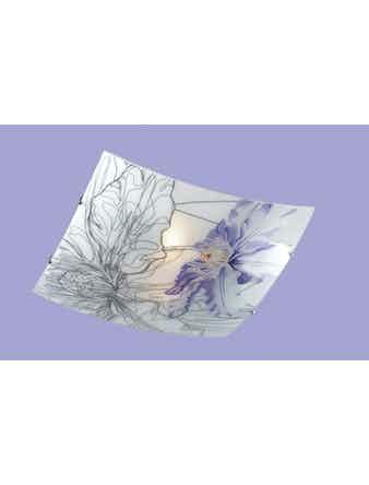 Светильник потолочный СОНЕКС 2230 никель/белый/фиолетов E27 2*60W 220V IRIS