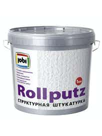 Штукатурка декоративная Jobi Rollputz 'эффект под шубу', зерно 0,5-1 мм, 16 кг