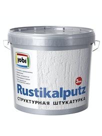 Штукатурка декоративная Jobi Rustikaputz 'эффект короеда', зерно 3 мм, 16 кг
