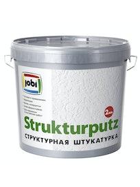 Штукатурка декоративная Jobi Strukturputz 'эффект короеда', зерно 2 мм, 16 кг