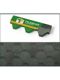 Черепица гибкая Tilercat Прима, зеленая, 3 м2