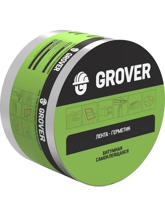 Лента-герметик битумная Grover серебряная 10м х 10см