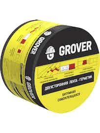 Лента-герметик битумная Grover двустороння черная 3м х 7,5см