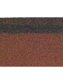 Черепица 1-слойная коньково-карнизная, 3 м2, красный микс