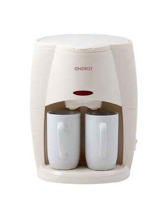 Кофеварка Energy EN-601 2 чашки кремовая