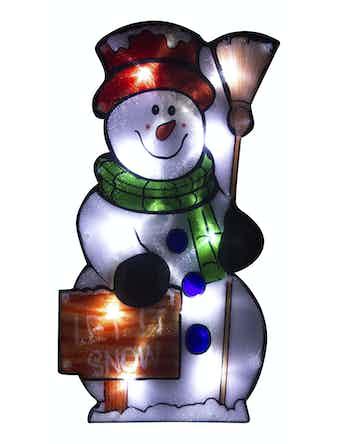 Световое панно Веселый снеговик