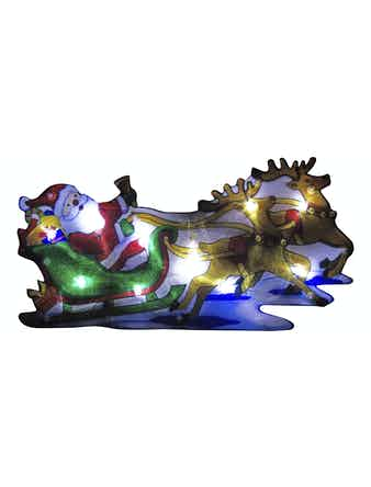 Световое панно Дед мороз в упряжке