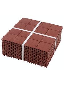 Покрытие модульное Плитка, упаковка 10 шт, цвет терракотовый