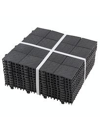 Покрытие модульное Плитка, упаковка 10 шт, цвет черный