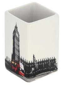 Стакан для ванной комнаты Лондон, керамика, 6,6 х 6,6 х 10,5 см