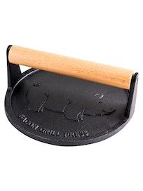 Пресс для гриля чугунный с деревянной ручкой, 18 см