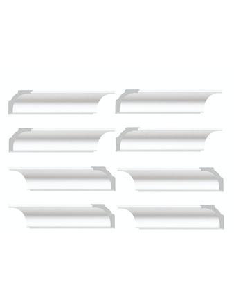 Элементы плинтуса для углового соединения C15/40