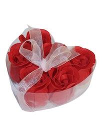 Мыльные цветы Розы в коробке, 6 шт.