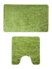 Набор ковриков для ванны Milardo, зеленые