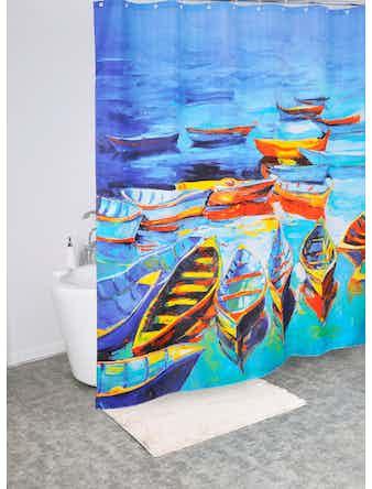 Штора для ванной Iddis Boats