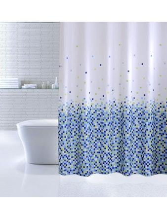 Штора для ванной IDDIS Blue Pixels, 180 х 200 см