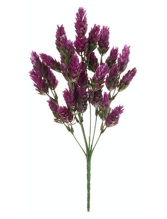 Искусственный цветок Хмель на стебле, розовый, 30 см