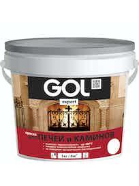Краска для печей и каминов GOL expert, белая, 1 л