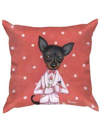 Подушка декоративная Собаки, 35 x 35 см, микс