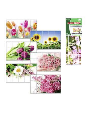Защитная пленка-стикер Цветы, 75 х 45 см