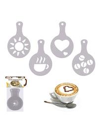 Набор декораторов для кофе, 8,5 х 13 см, 4 шт.