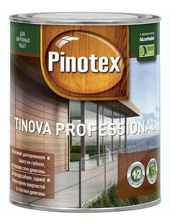 Средство для защиты древесины Pinotex Tinova Professional CLR 0,73л