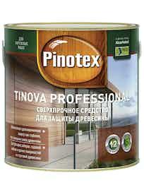Средство для защиты древесины Pinotex Tinova Professional CLR 2,43л