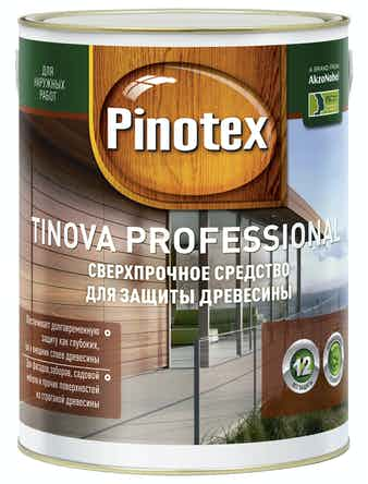 Средство для защиты древесины Pinotex Tinova Professional CLR 4,85л