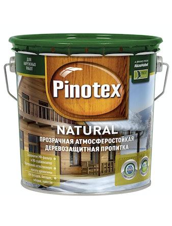 Пропитка для древесины декоративно-защитная прозрачная PINOTEX NATURAL 2,7л