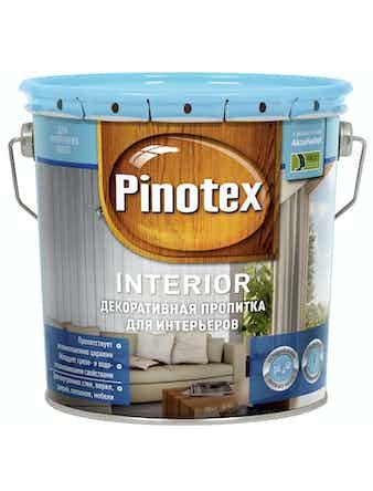 Пропитка декоративная для древесины PINOTEX INTERIOR бесцветный CLR 2,7л