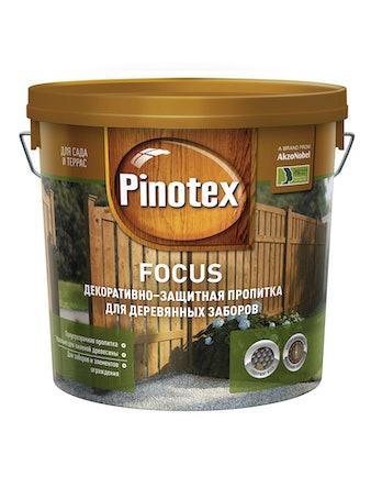 Пропитка декоративно-защитная для деревянных заборов Pinotex FOCUS Орех 5л