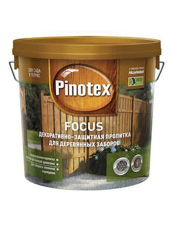 Пропитка декоративно-защитная для деревянных заборов Pinotex FOCUS Зол. осень 5л