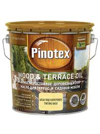 Масло деревозащитное д/террас и садовой меб. Pinotex Wood&Terrace Oil бесцв.2,7л