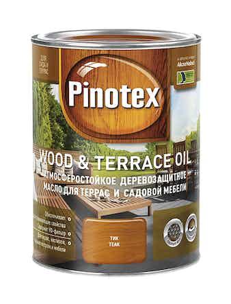 Масло деревозащитное для террас и садовой мебели Pinotex Wood&Terrace Oil Тик 1л