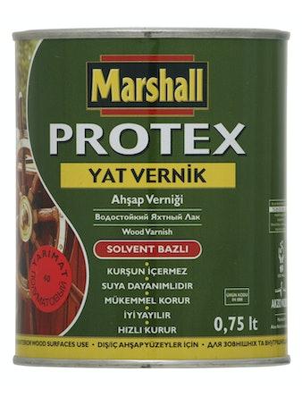 Лак яхтный алкидно-уретановый Marshall Protex YAT VERNIK 40 полуматовый 0,75л