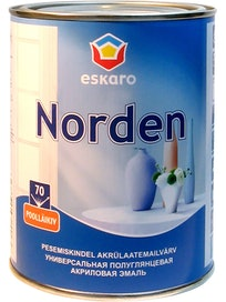 Эмаль акриловая Eskaro Norden 70, белая, 0,9 л