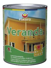 Краска масляно-акриловая для древесины Eskaro Veranda, база TR, 0,95 л