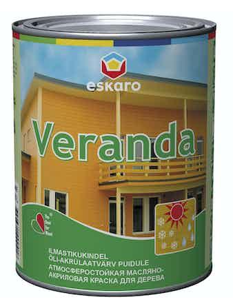 Краска масляно-акриловая для древесины Eskaro Veranda база TR 0,95л
