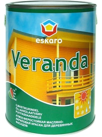 Краска масляно-акриловая для древесины Eskaro Veranda, база TR, 2,85 л