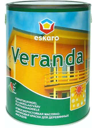 Краска масляно-акриловая для древесины Eskaro Veranda база TR 2,85л
