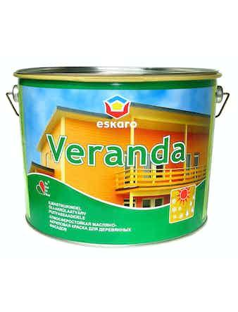 Краска масляно-акриловая для древесины Eskaro Veranda база TR 9,5л