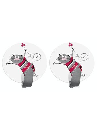 Набор самоклеющихся крючков Tatkraft Funny Cat, 2 шт.