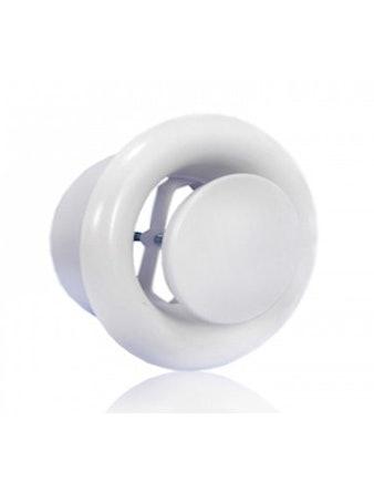 Диффузор вытяжной металлический 125 мм белый