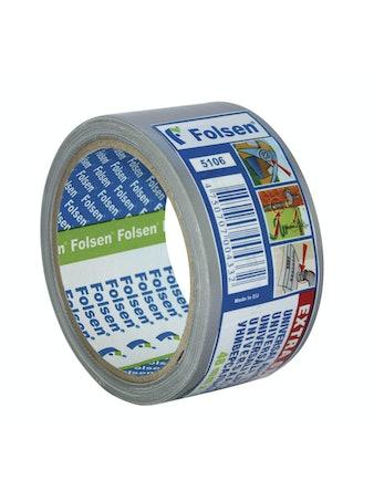 Лента клейкая универсальная Экстра 48мм/10м серая Folsen