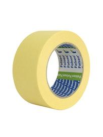 Лента малярная бумажная 50мм x 50м, желтая, 80°С Folsen